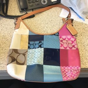 Coach HOBO multi colored authentic never used